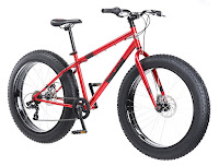 Mongoose Dolomite Fat Tire Bike with red frame, image