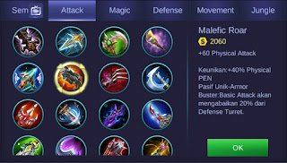 Malefic Roar Mobile Legends