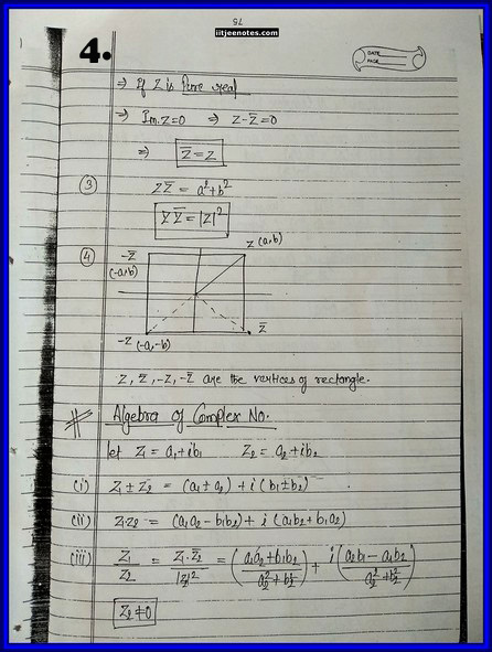 iitjee notes on complex number 4