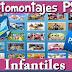 Súper Pack 500 Fotomontajes PSD Plantillas Infantiles +Marcos