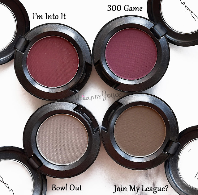 MAC It's A Strike Collection Bowl Out Join My League 300 Game I'm Into It Eyeshadow Review