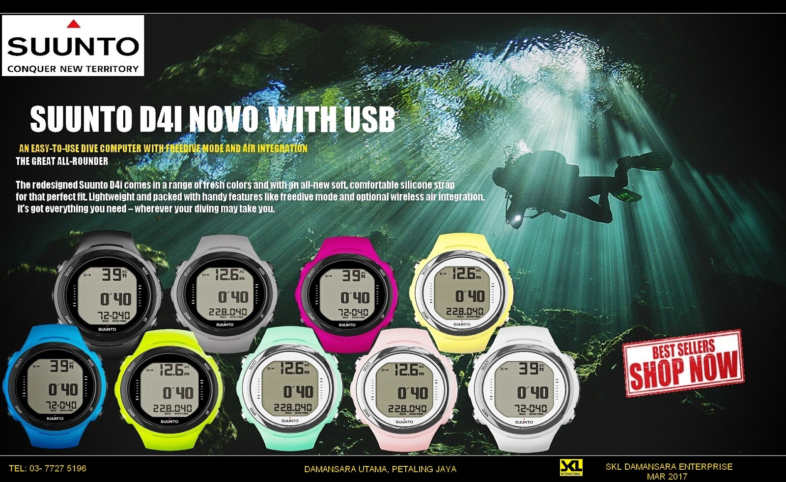 Suunto D4i Novo now Promo@ RM 2259 Only