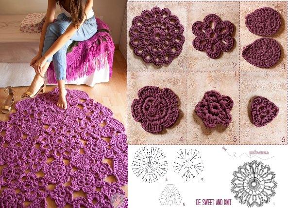 Patrones crochet - Alfombras ganchillo trapillo ...