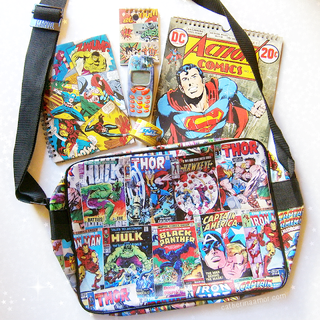 Super Heroes Stationary Bag