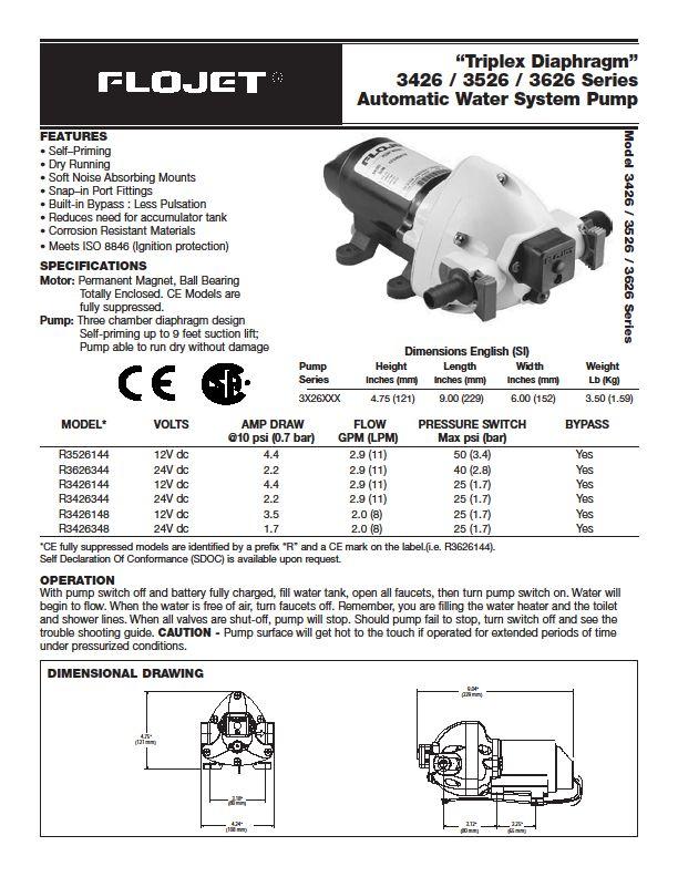 class a customs flojet 115 volt water pump installation rh classacustoms blogspot com flojet water pump wiring diagram 3-Way Switch Wiring Diagram