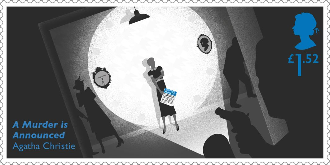 Mystery Fanfare Agatha Christie Stamps With Clues