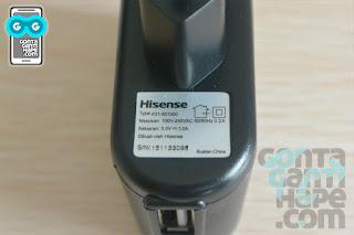 Smartfren Andromax E2+, kepala charger dengan output 1A, 5v