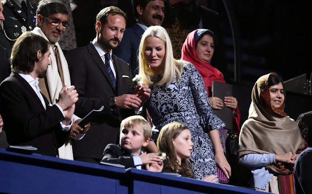 Prince Haakon, the Princess Mette-Marit and their children attended the concert