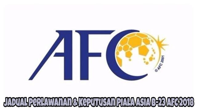 Jadual Perlawanan & Keputusan Piala Asia B-23 AFC 2018