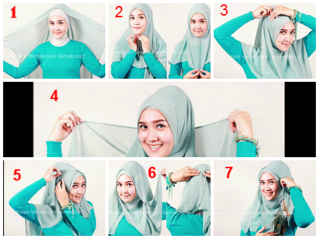Tutorial Jilbab Segi Empat Wajah Lonjong Tutorial Hijab Paling