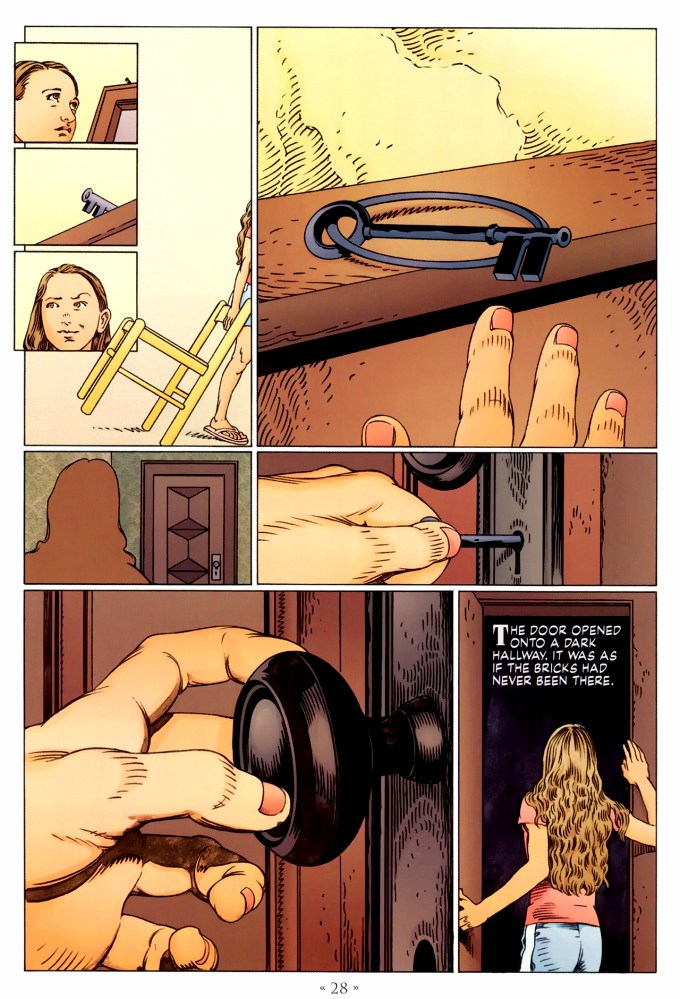 Read page 28, from Nail Gaiman and P. Craig Russell's Coraline graphic novel