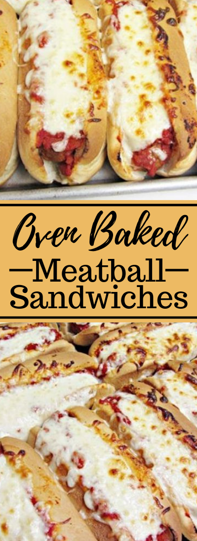 Oven Baked Meatball Sandwiches #Dinner #simplemeals