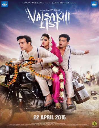 Poster Of Vaisakhi List 2016 Punjabi 170MB HDRip HEVC Mobile Watch Online Free Download Worldfree4u