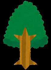 いろいろな木のイラスト「緑」