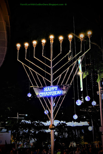 Jewish Menorah, Christmas Light Up, Orchard Road, Singapore