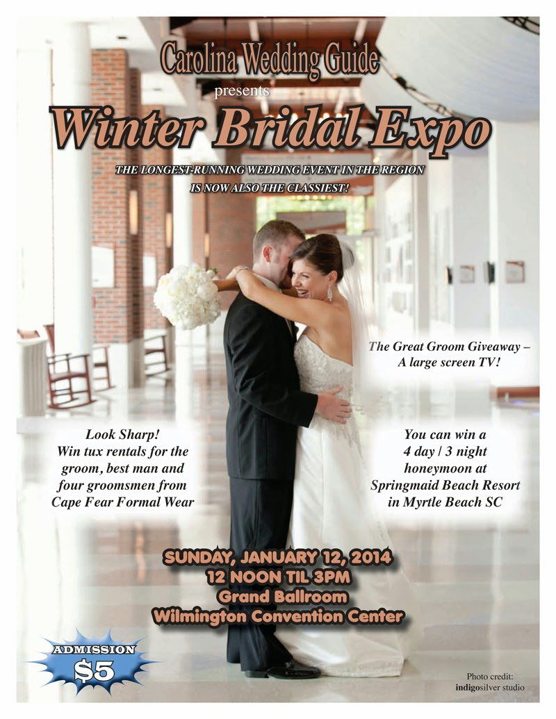 indigosilver at Carolina Wedding Guide Winter Bridal Expo 2014 – your chance to save on Wilmington's premiere wedding photographer!