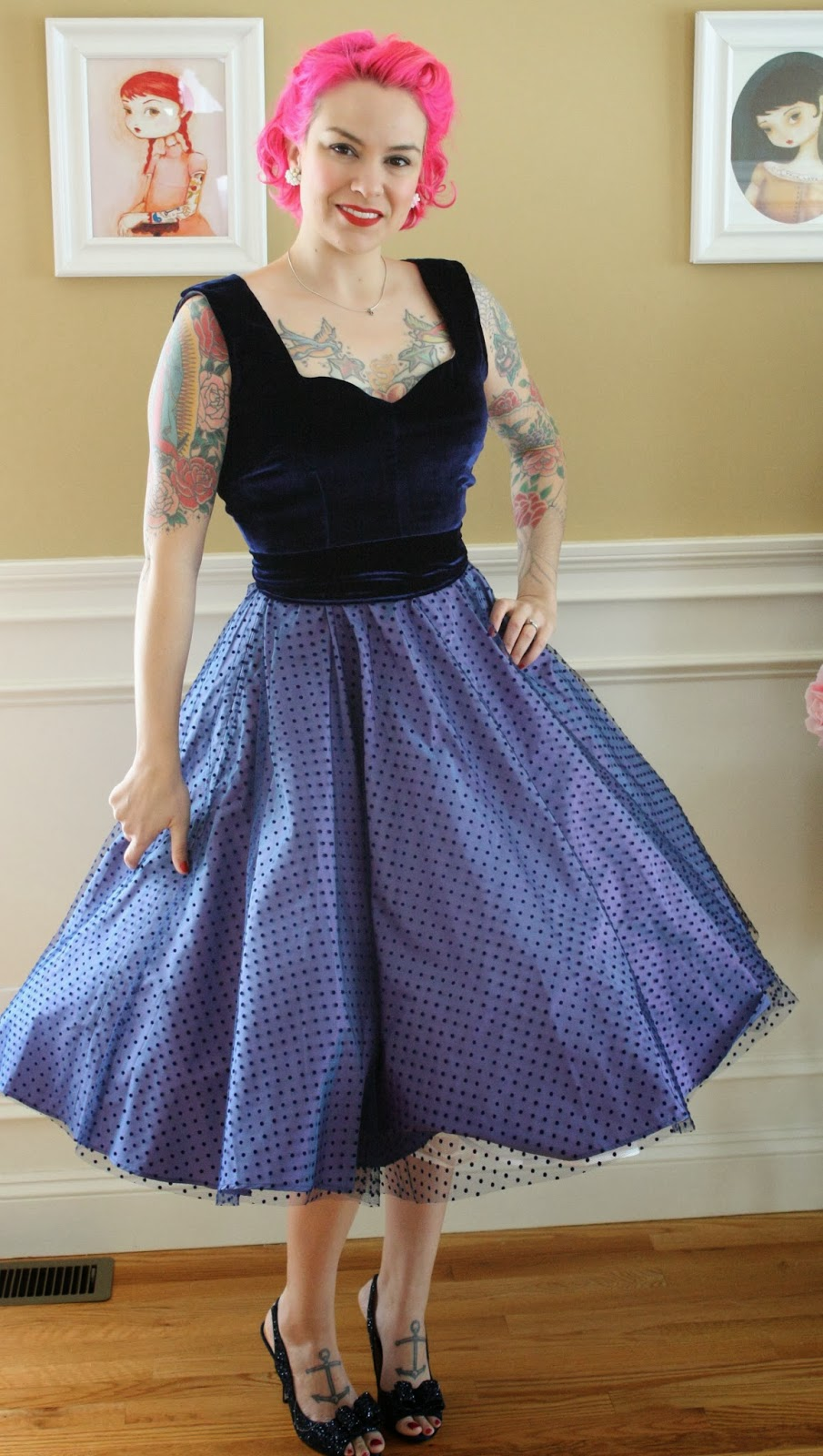 898c769ae4b Gertie s New Blog for Better Sewing  Blue Velvet and Dotted Tulle ...