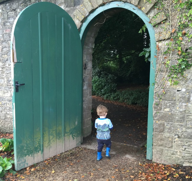 #MySundayPhoto-Number-40-toddler-walking-through-garden-door