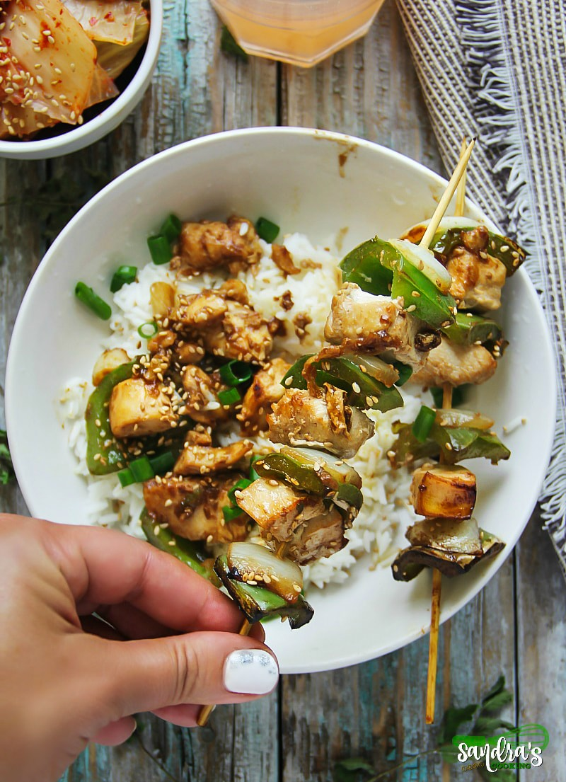 Teriyaki Chicken and Pepper Skewers - A delicious summer dish that gives you a pleasant explosion of flavors. #recipes #asianfood #homemade #cooking #asiancuisine #chicken #japaneserecipes