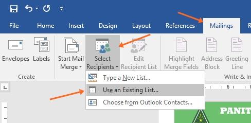 cara membuat sertifikat menggunakan Mail Merge Ms Word