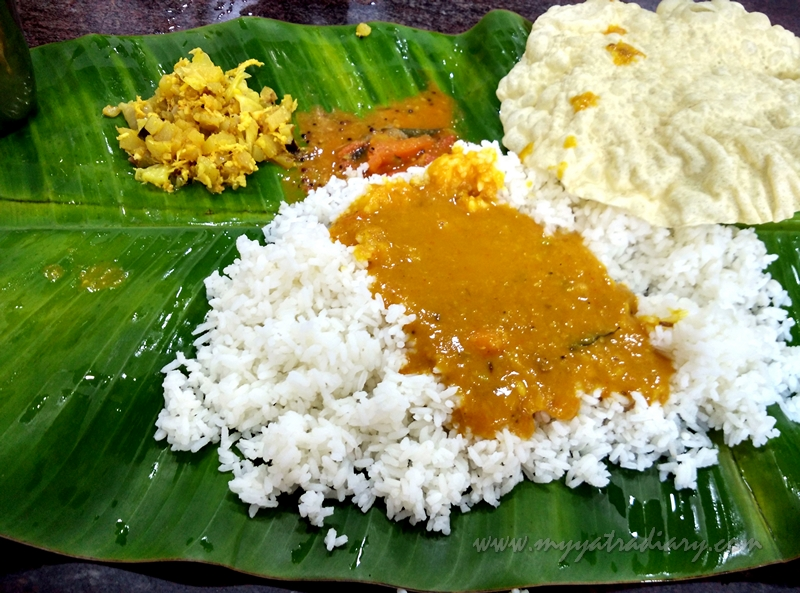 Lunch meal in Hotel Guru in Rameshwaram, Tamil Nadu