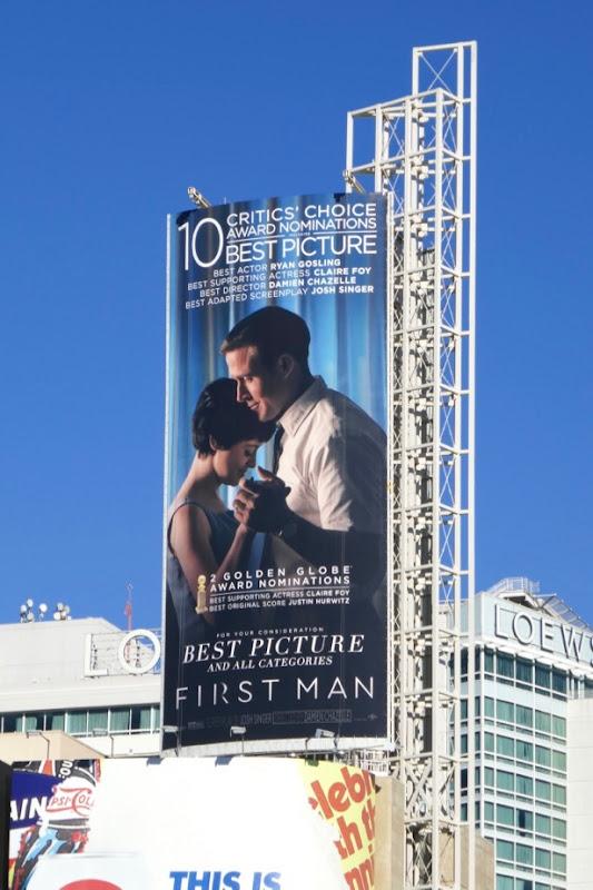 First Man 10 Critics Choice billboard