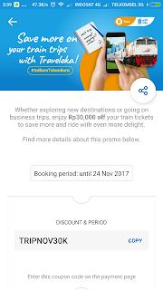 Promo Kereta Api Traveloka