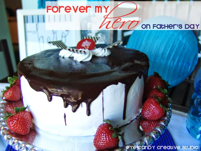 forever my hero on father's day, ice cream cake, free father's day downloads