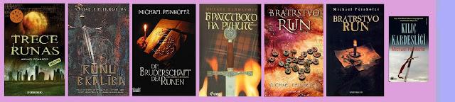 portadas de la novela histórica de intriga Trece runas, de Michael Peinkofer