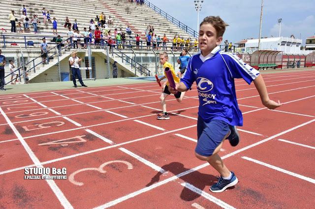 Αγώνες στίβου Δημοτικών Σχολείων Αργολίδας στο ΔΑΚ Ναυπλίου