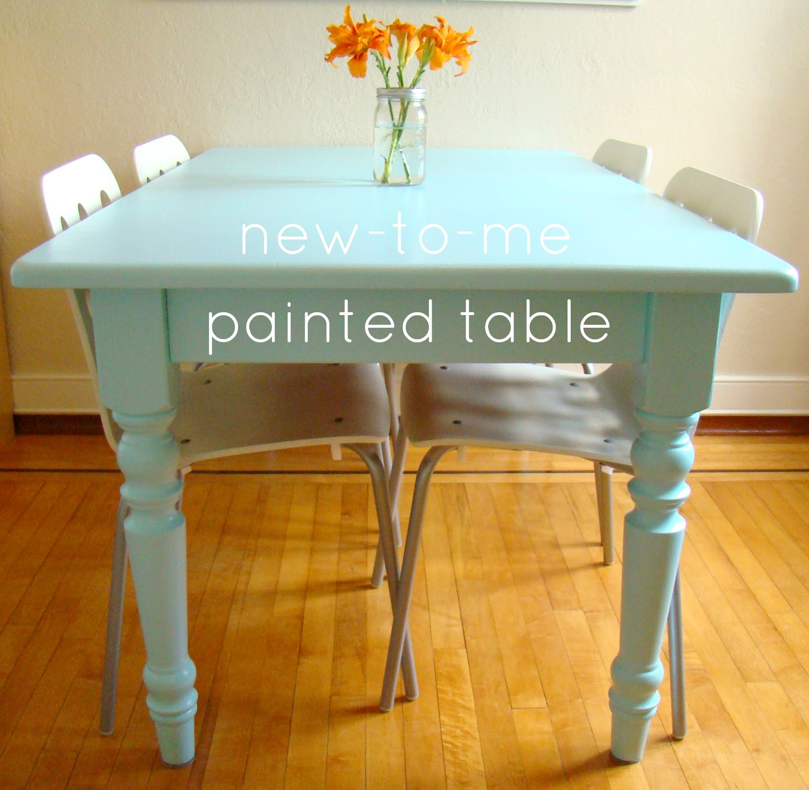 family feedbag a painted table. Black Bedroom Furniture Sets. Home Design Ideas