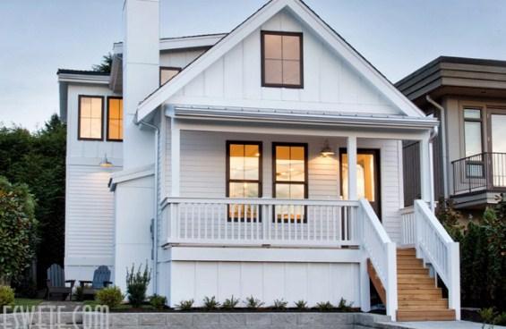 rumah putih sederhana