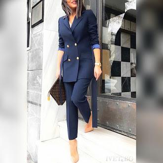 Γυναικείο μπλε κοστούμι AELLA BLUE