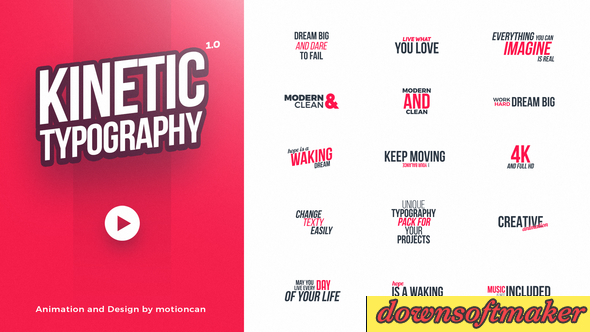 Kinetic Typography 20578796 Videohive - Free After Effects Templates