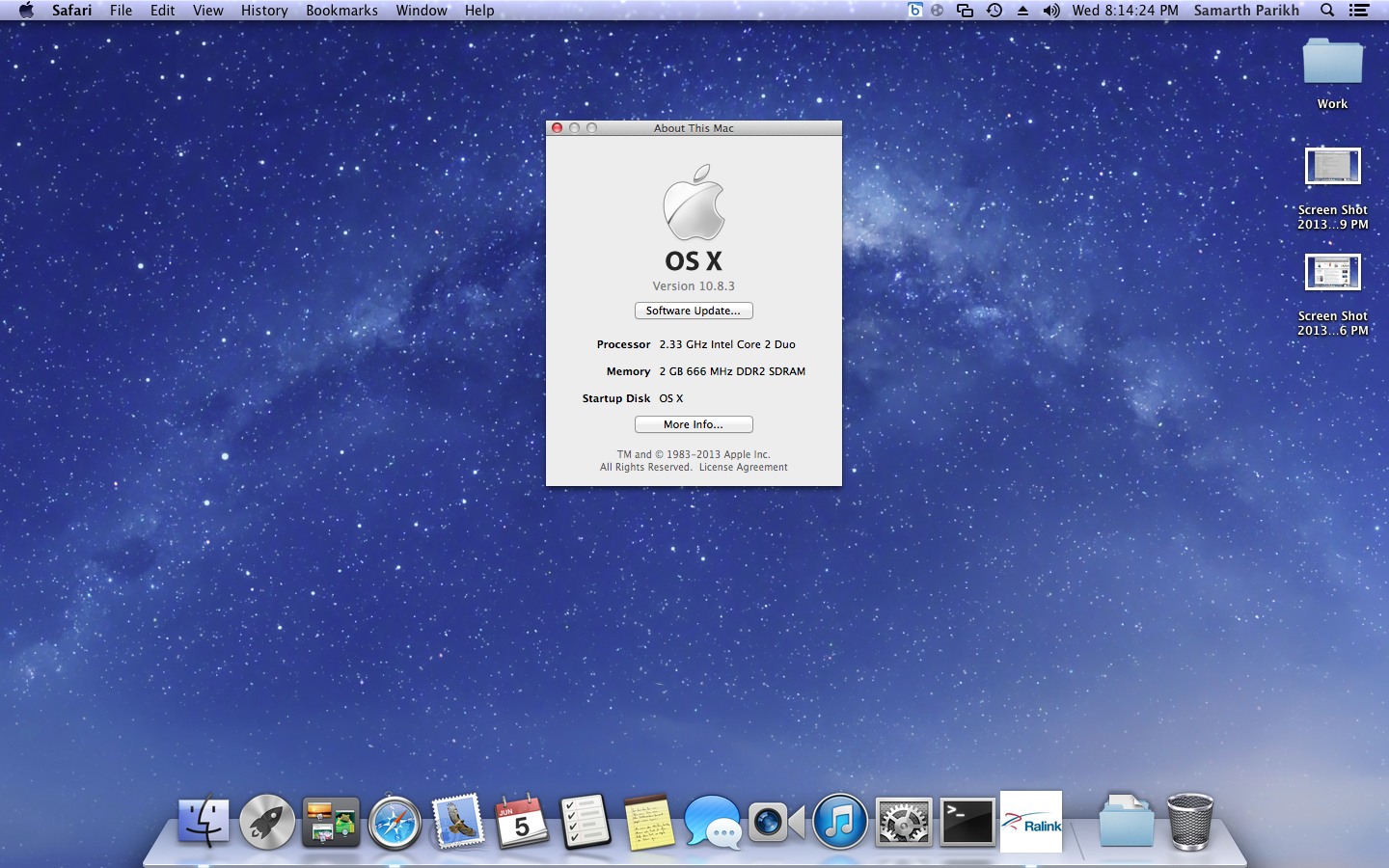 Basic System Requirements for OS X Mountain Lion:
