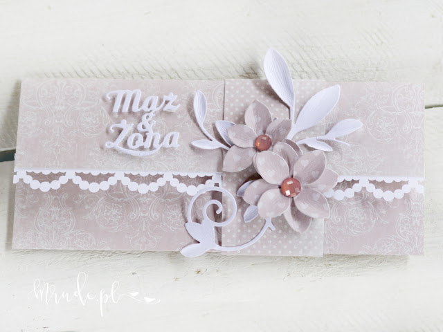 Kartka ślubna, kopertówka