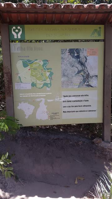 Mapa de situação na Cachoeira da Velha