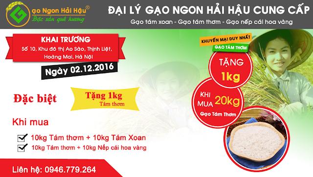 """Khuyến mại """"khủng"""" nhân dịp khai trương cửa hàng gạo Hải Hậu ở Hà Nội"""