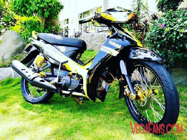 Vega R New Hitam Modif Road Race Simple