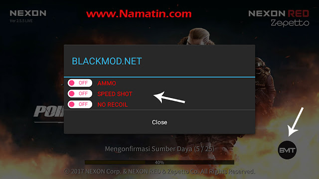 cheat point blank no reload nexon android