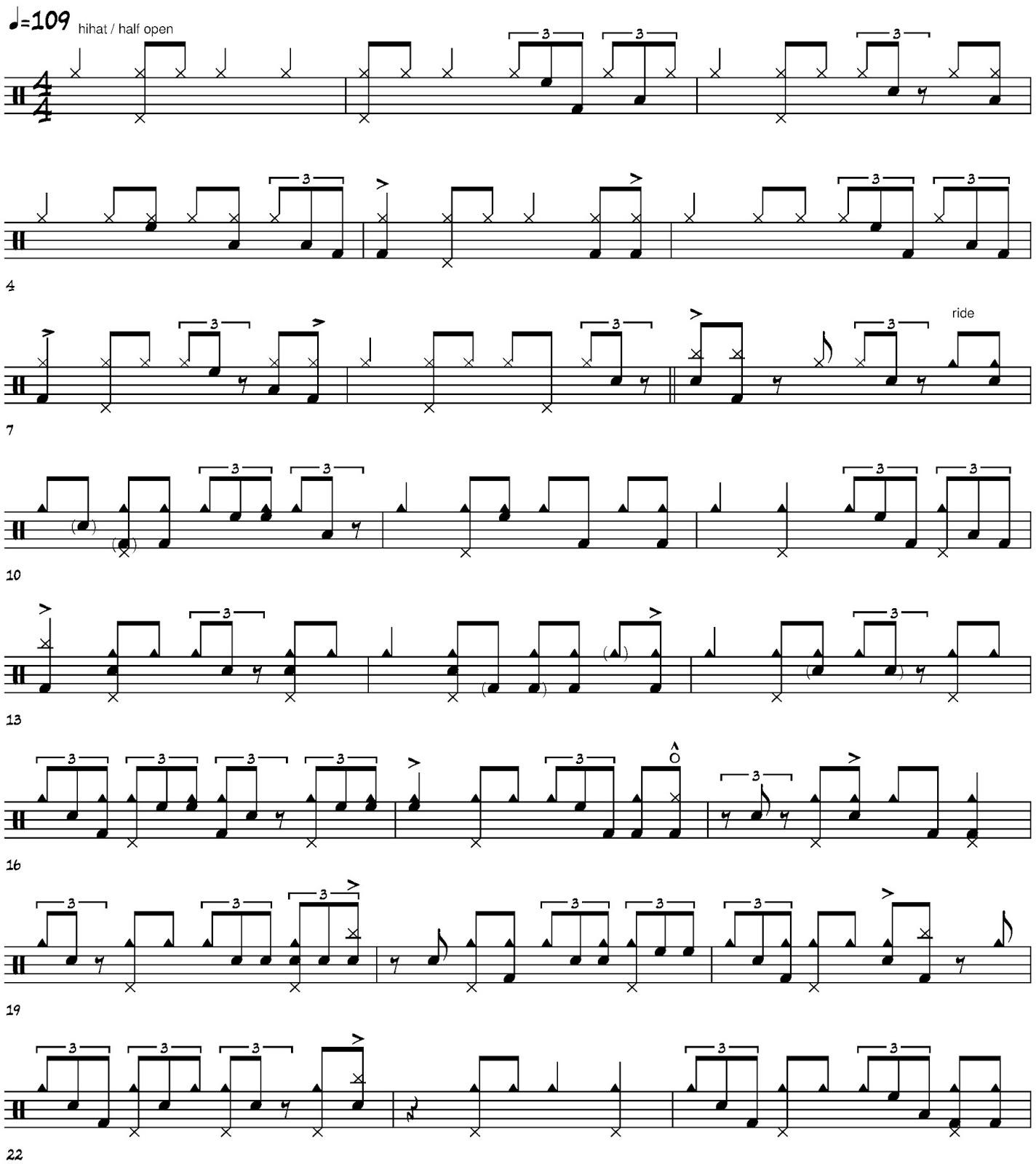 Cruise Ship Drummer!: Elvin Jones transcription - Tunji by John Coltrane