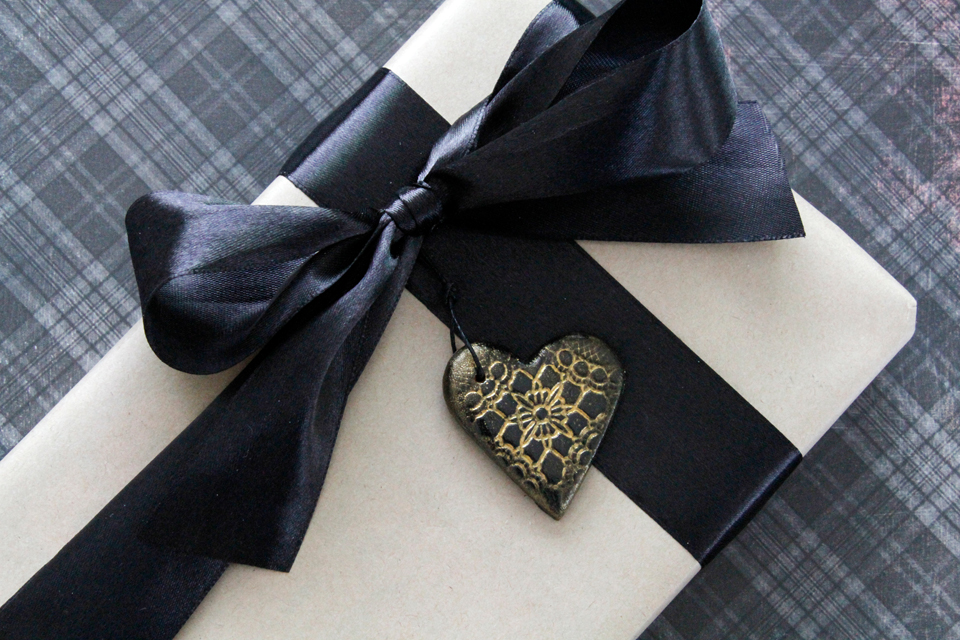 creativity unmasked air dry clay hearts black and gold vintage