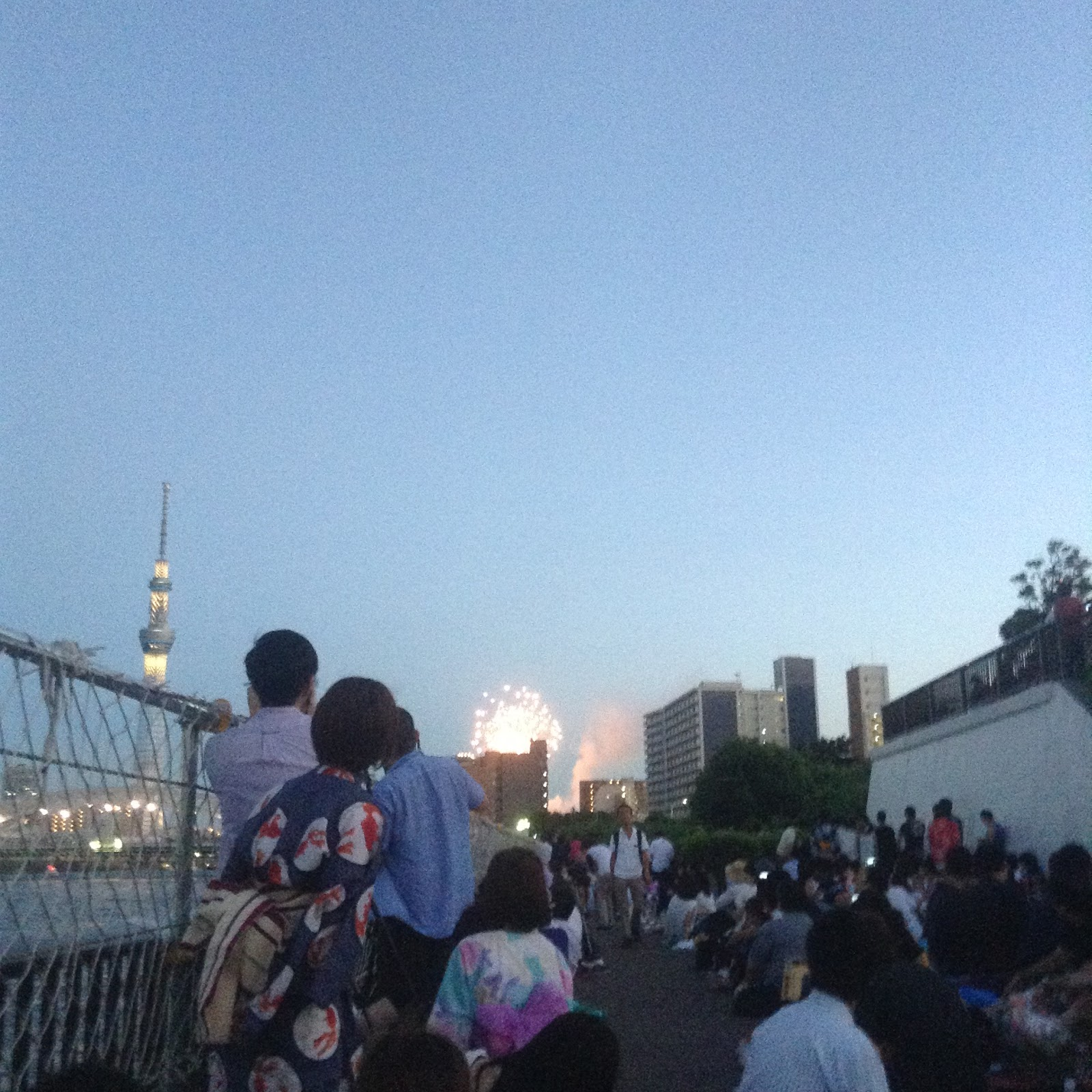 Fireworks and Tokyo Sky Tree