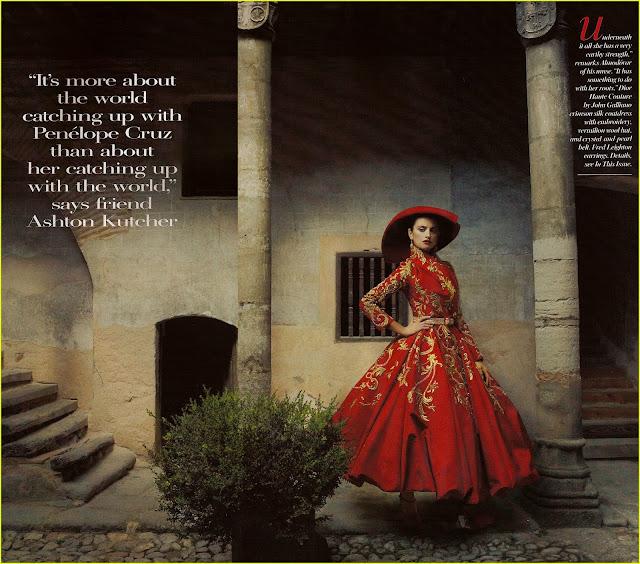 Penelope Cruz red dress hot photo