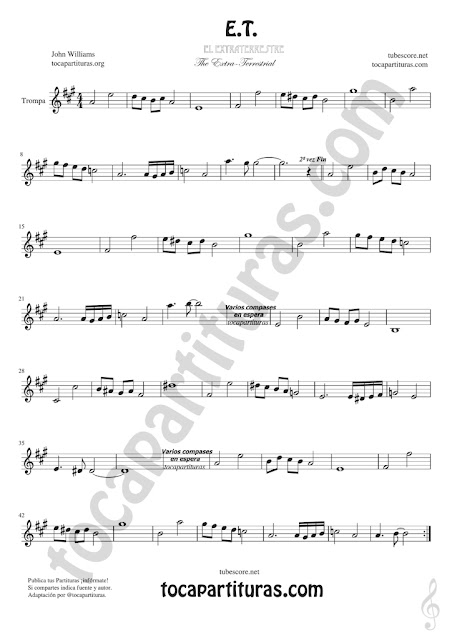 ET Trompa y Corno Francés Partitura de en Mi bemol Sheet Music for French Horn Music Scores