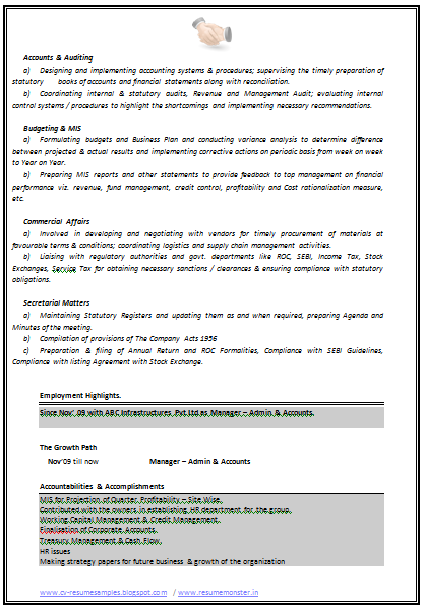 and resume samples with free download resume sample for experienced