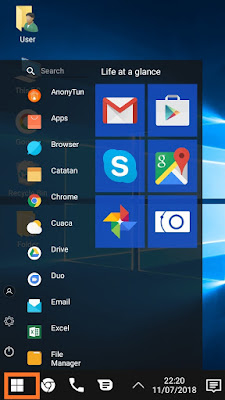 cara install windows di android