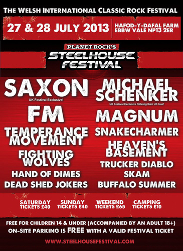 FM at Planet Rock's Steelhouse Festival 27 July 2013