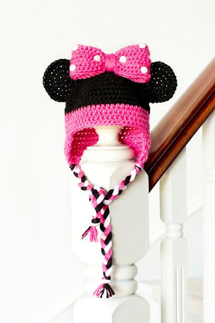 Bonnet Minnie Mouse au crochet - Modèle gratuit
