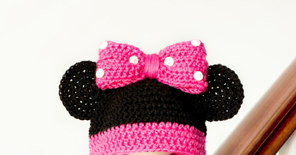Minnie Mouse Crochet Hat Pattern Child : Hopeful Honey Craft, Crochet, Create: Minnie Mouse ...